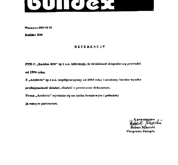 Buildex-referencje